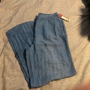 NWT Chambray wide leg pants.